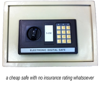 a cheap safe with no insurance rating whatsoever