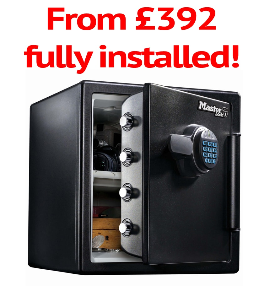 Master Lock Fireproof Safe  - £40,000 Valuables